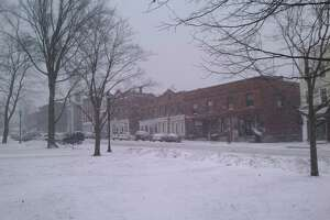 West Street in Litchfield center as seen from the town green.