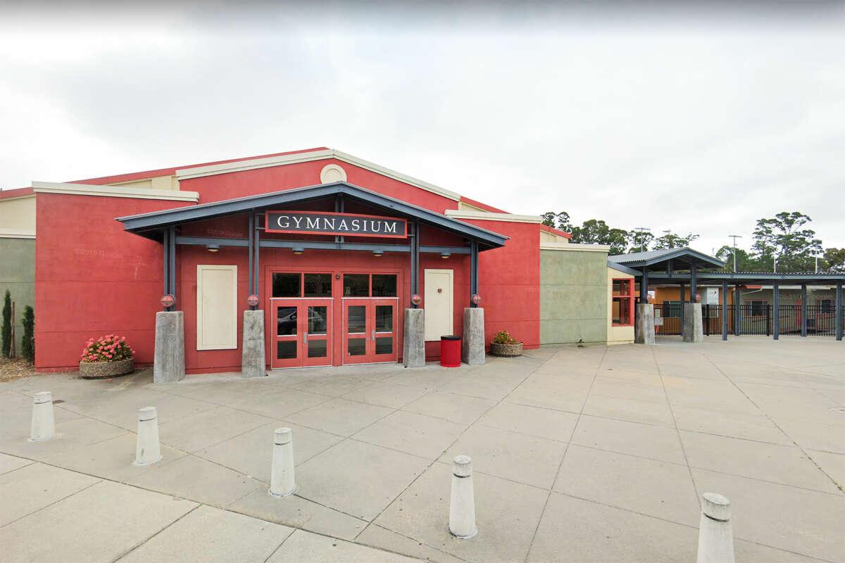 Gymnasium at San Rafael High School, San Rafael, Calif.