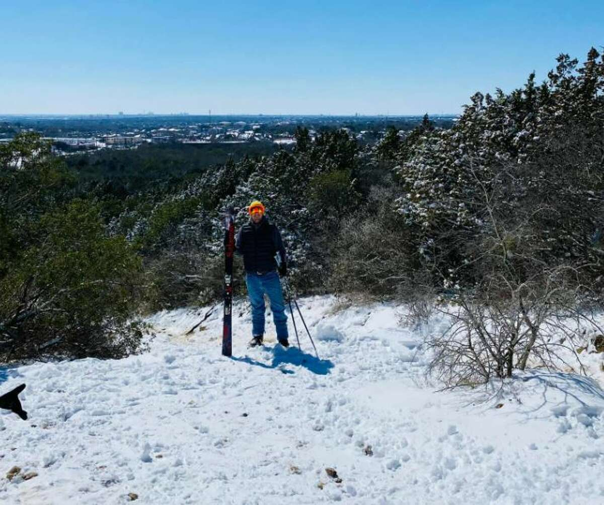 A local man crossed off something from his bucket list this week: to ski at the Comanche Lookout Park - a place he called his backyard growing up.