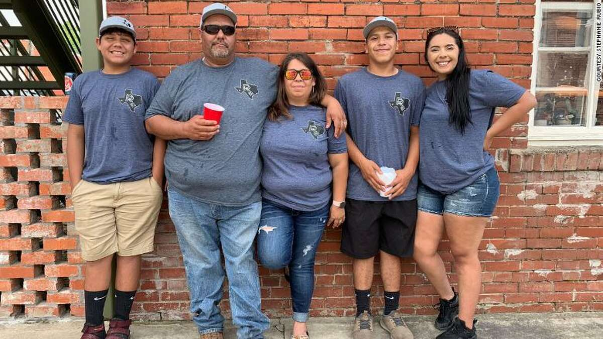From left, Levi, Robert, Stephanie, Blake and Allison Rubio.