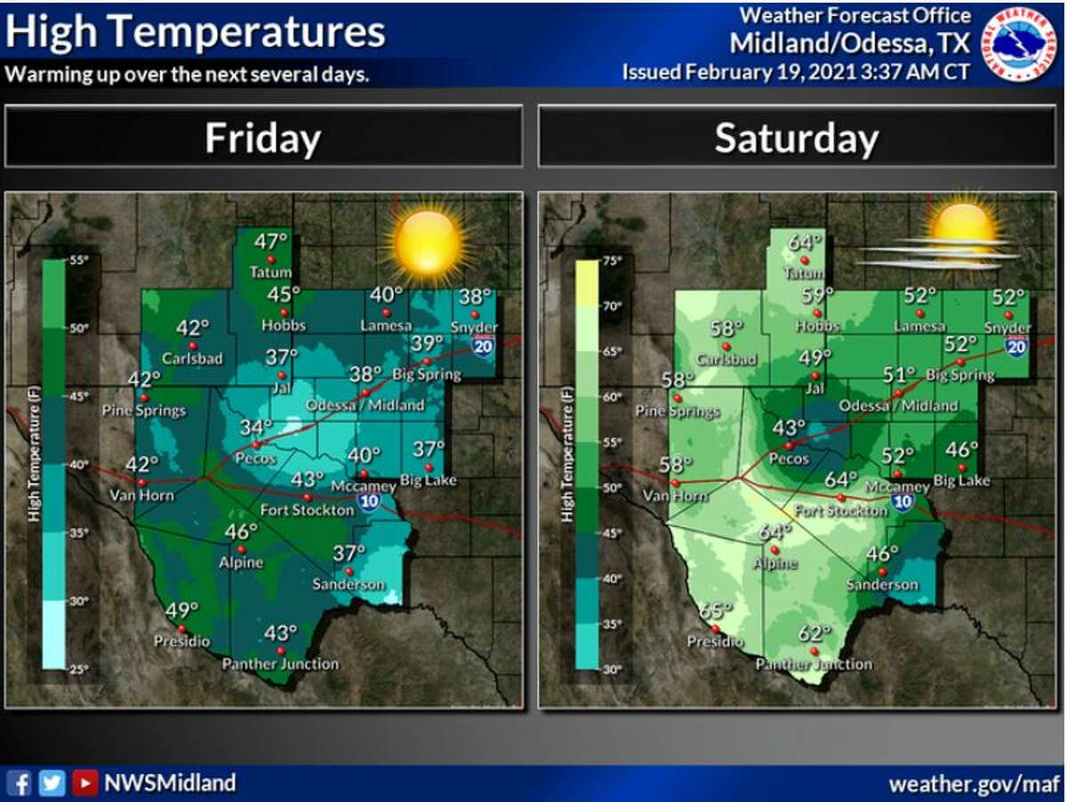 Friday we will see clearing skies and warming temperatures finally. Saturday, temperatures will reach into the 50s.