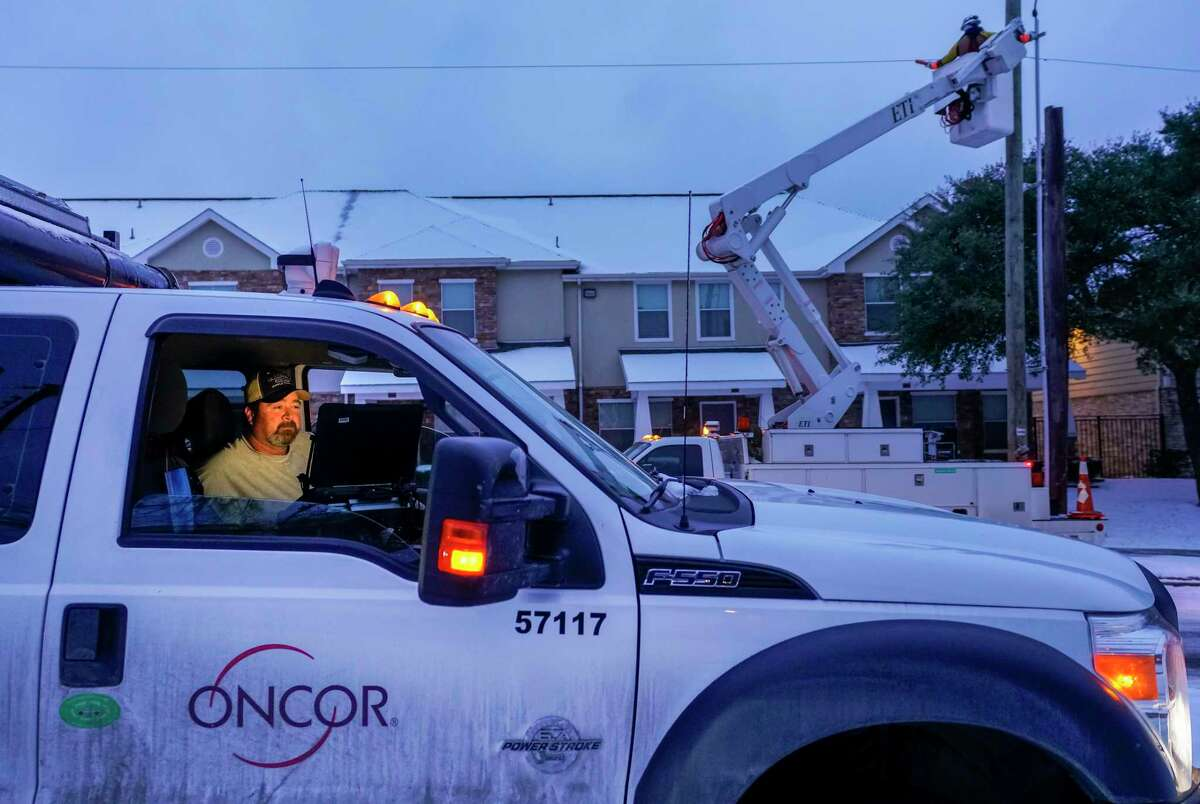 A worker in Dallas seeks to restore power during the arctic blast. A failure to invest in infrastructure is a failure to invest in our present and future.