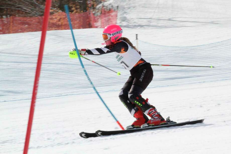 Aada Tukiainen competes at the Benzie Invitational on Jan. 25. (News Advocate file photo)