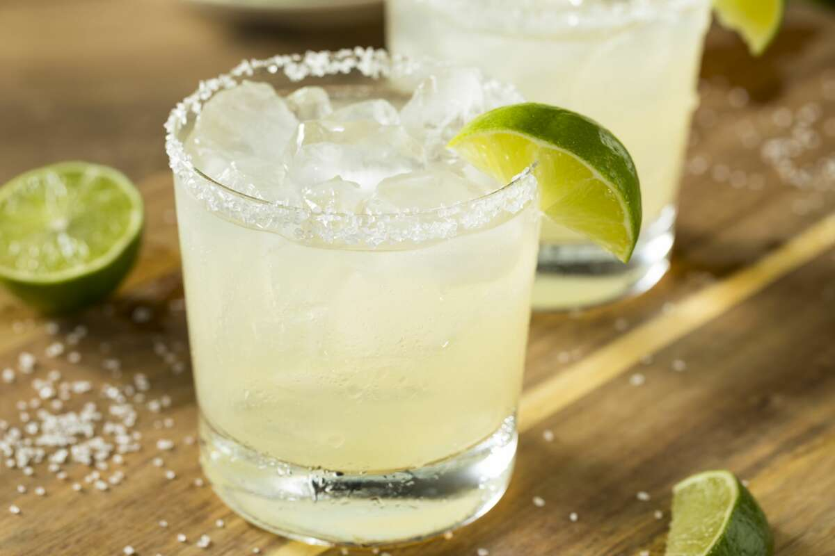 Lime Margarita with Tequila and Sea Salt