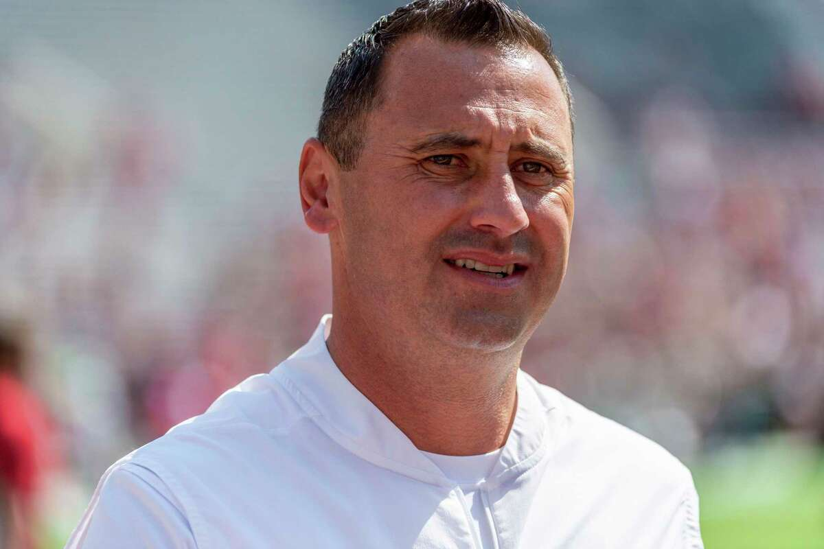 FILE - In this Sept. 28, 2019, file photo, then-Alabama offensive coordinator Steve Sarkisian is shown before an NCAA college football game against Mississippi, , in Tuscaloosa, Ala., in this Saturday, Sept. 28, 2019, file photo. Sarkisian is the new head football coach at the University of Texas. The National signing day period begins Wednesday, Feb. 3, 2021. (AP Photo/Vasha Hunt, File)
