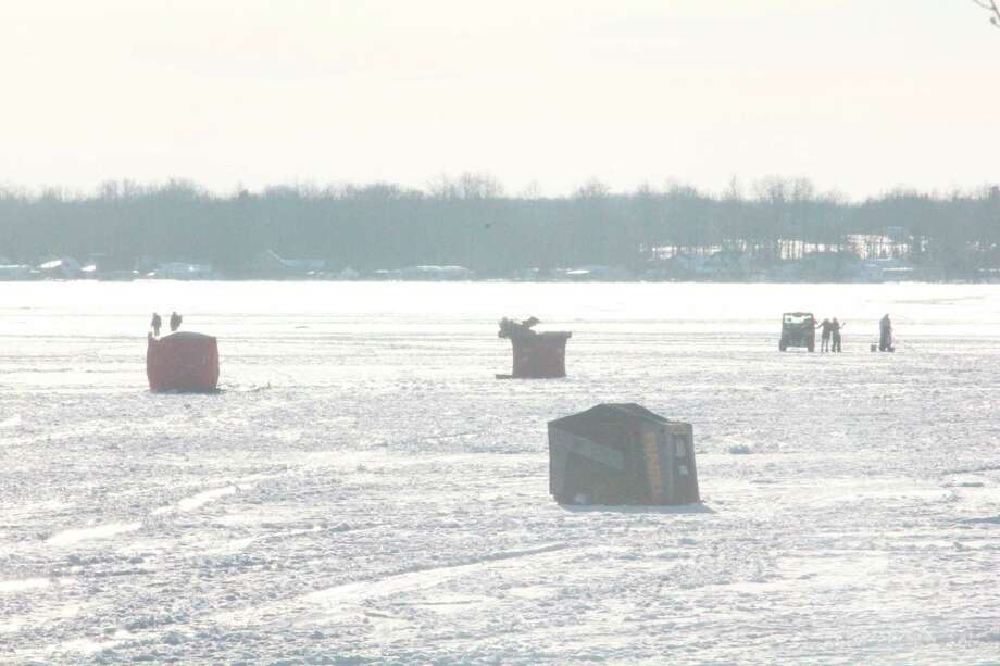 Getting around on the ice has been a challenge for local anglers. (Pioneer file photo)