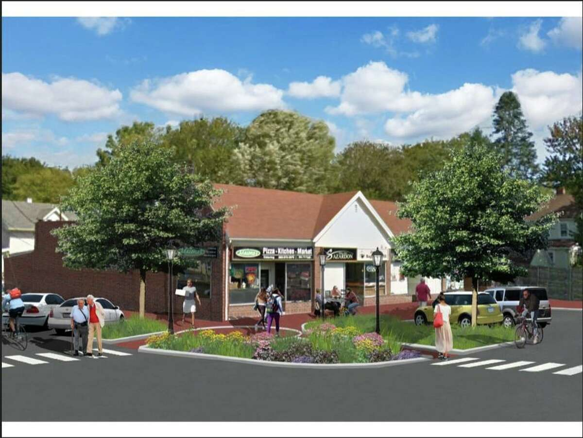 Early artist renderings for the Goddard and Maione's corner as part of the Four Corners project in the Stratfield area in Fairfield.
