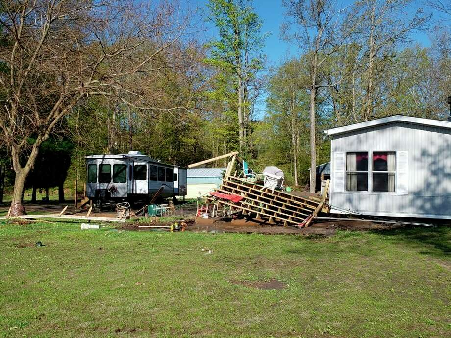 This is a photo of the mobile home Sharon Cheney and her husband Gaylord purhased on Sanford Lake. (Photo Provided)