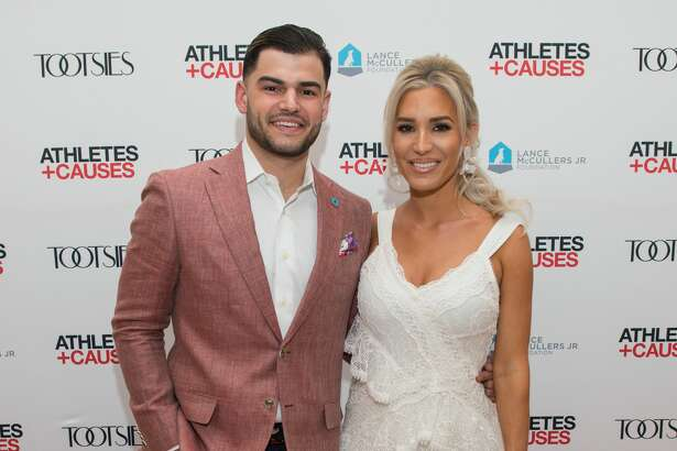 Astros pitcher Lance McCullers and his wife Kara.