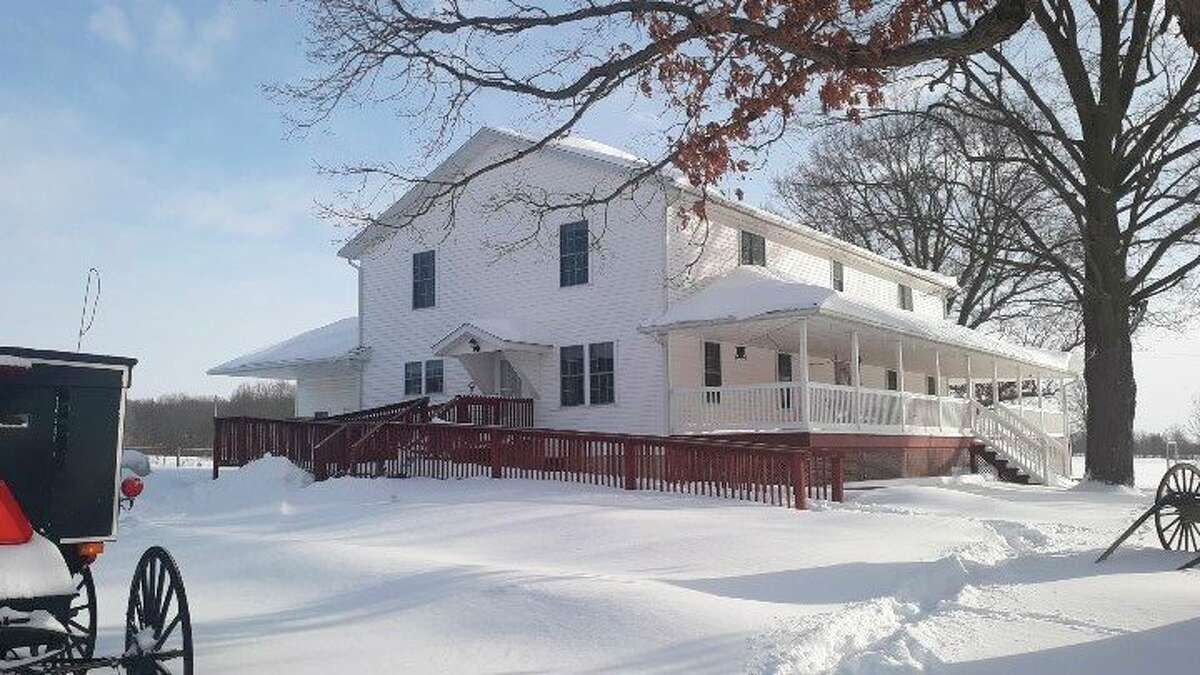 Over10 inches of snow fell this week at the Eicher homestead. (Courtesy photo)