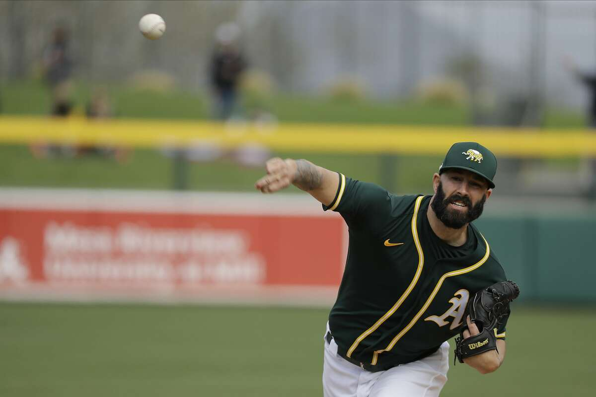 Mike Fiers, a projected A's rotation member entering camp, has been recovering from hip inflammation that shut him down for several days in mid-March.