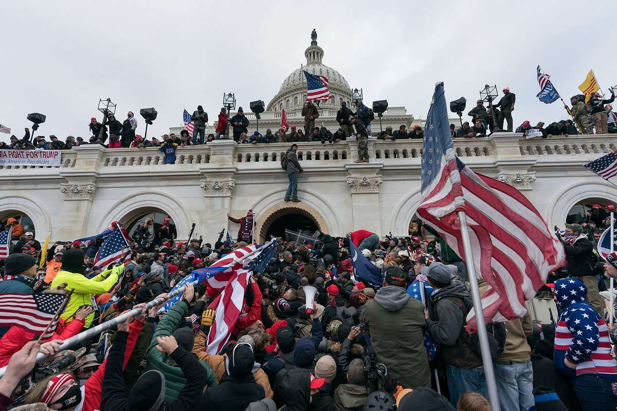 Supporters of President Donald Trump storm the nation's Capitol on Jan. 6.