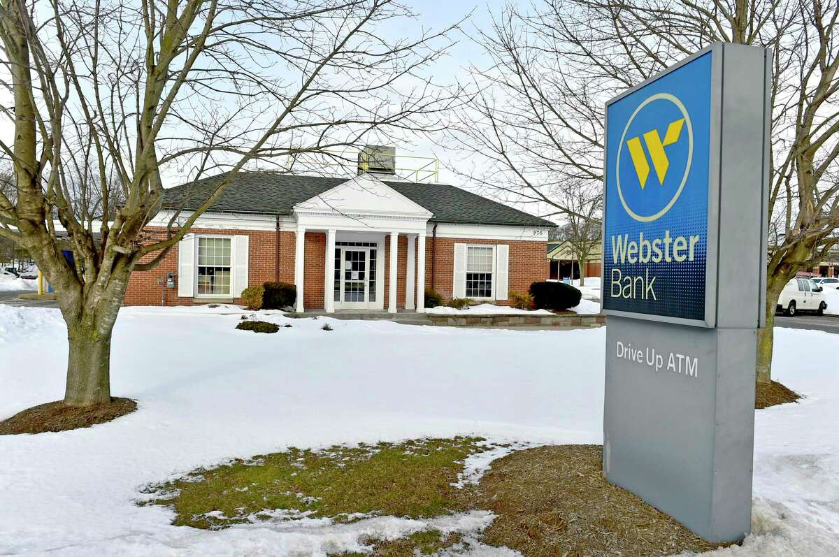 A Webster Bank branch at 975 S. Main St. in Cheshire, Feb. 18, 2021. In late December 2020, Webster Bank announced it was closing 16 branches in the state, including offices in Cheshire, Bethany and Hamden.