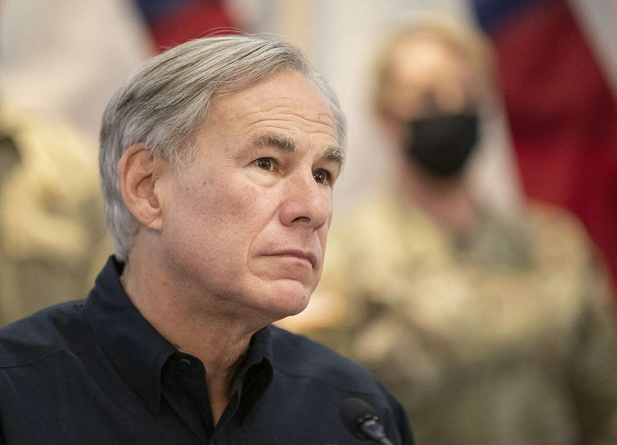 Texas Gov. Greg Abbott speaks about the winter storm during a press conference at the State Operations Center, Thursday Feb. 18, 2021, in Austin, Texas. ( Jay Janner/Austin American-Statesman via AP)