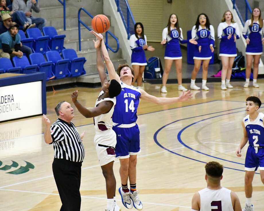 Olton suffered a 57-54 loss to Ralls in the bi-district round of the Class 2A boys basketball playoffs on Friday in the Rip Griffin Center at Lubbock Christian University. Photo: Nathan Giese/Planview Herald