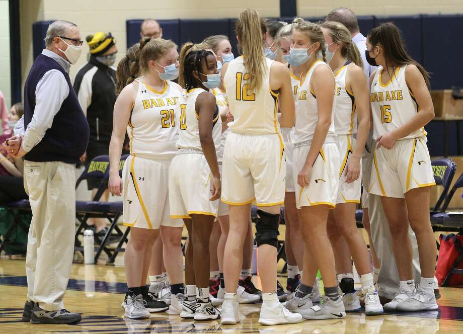 The Bad Axe girls basketball team traveled to Cass City on Monday night and earned its fourth win of the season, beating the Red Hawks, 49-45 Photo: Mark Birdsall/Huron Daily Tribune