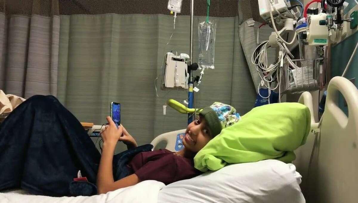 Sona Kocinsky takes a break from cancer treatment.