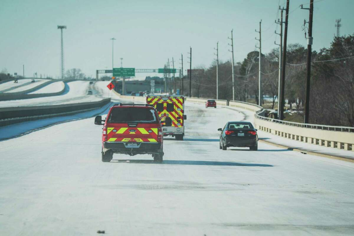Cy-Fair Fire Department crews respond to a carbon monoxide poisoning that resulted in six family members being transported for medical attention during the winter storm Monday, Feb. 15, 2021.