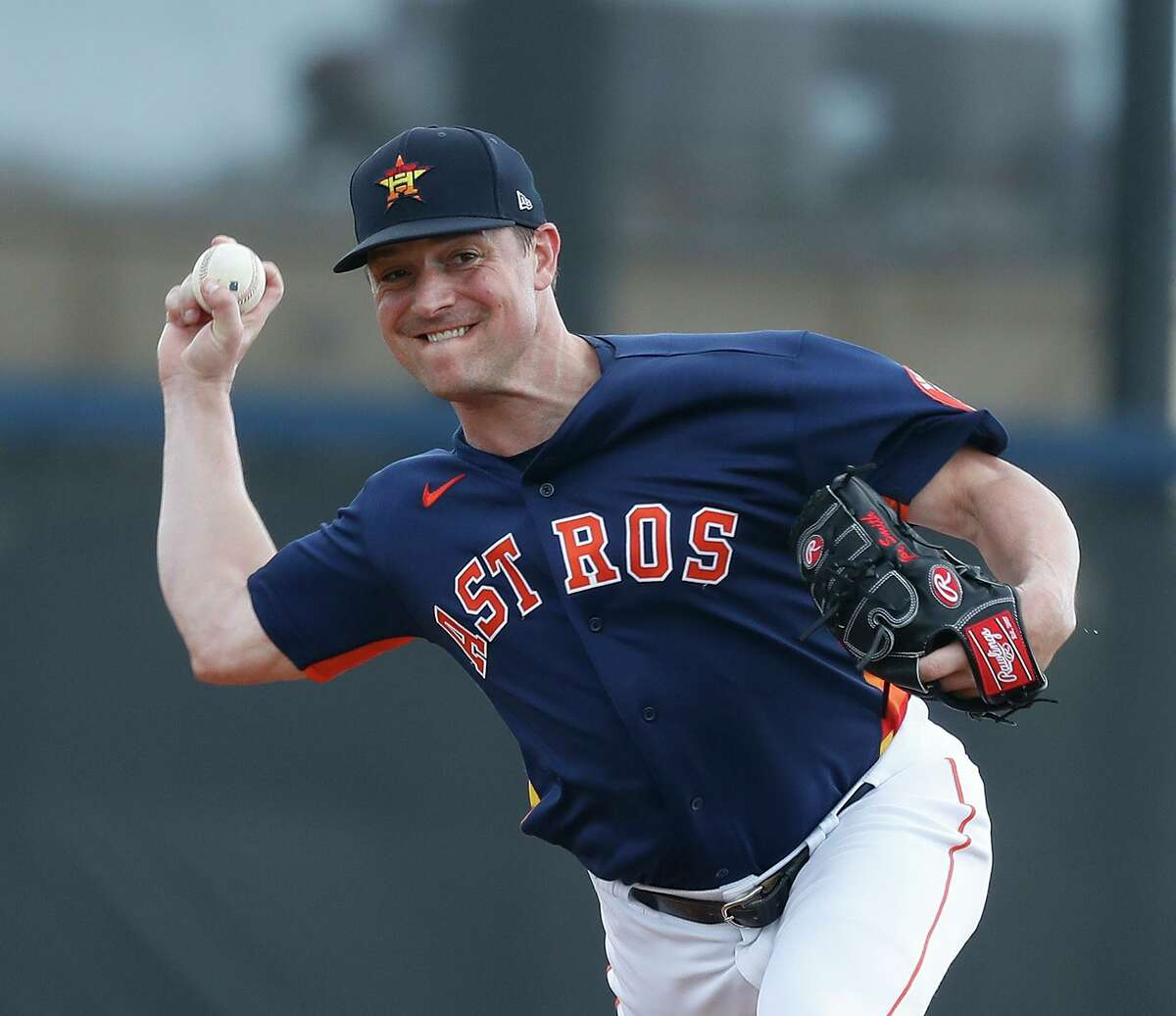 Joe Smith was with the Astros in spring training last year before opting out of the season to take care of his mother when the pandemic hit.