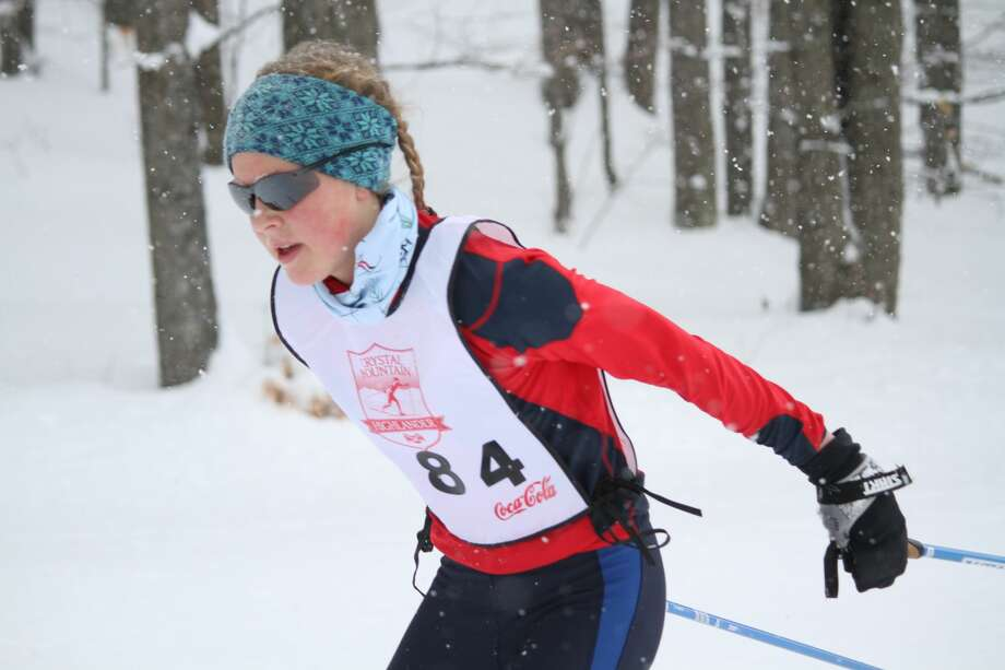 High school racers compete at a cross country ski race at Crystal Mountain on Feb. 20. Photo: Robert Myers