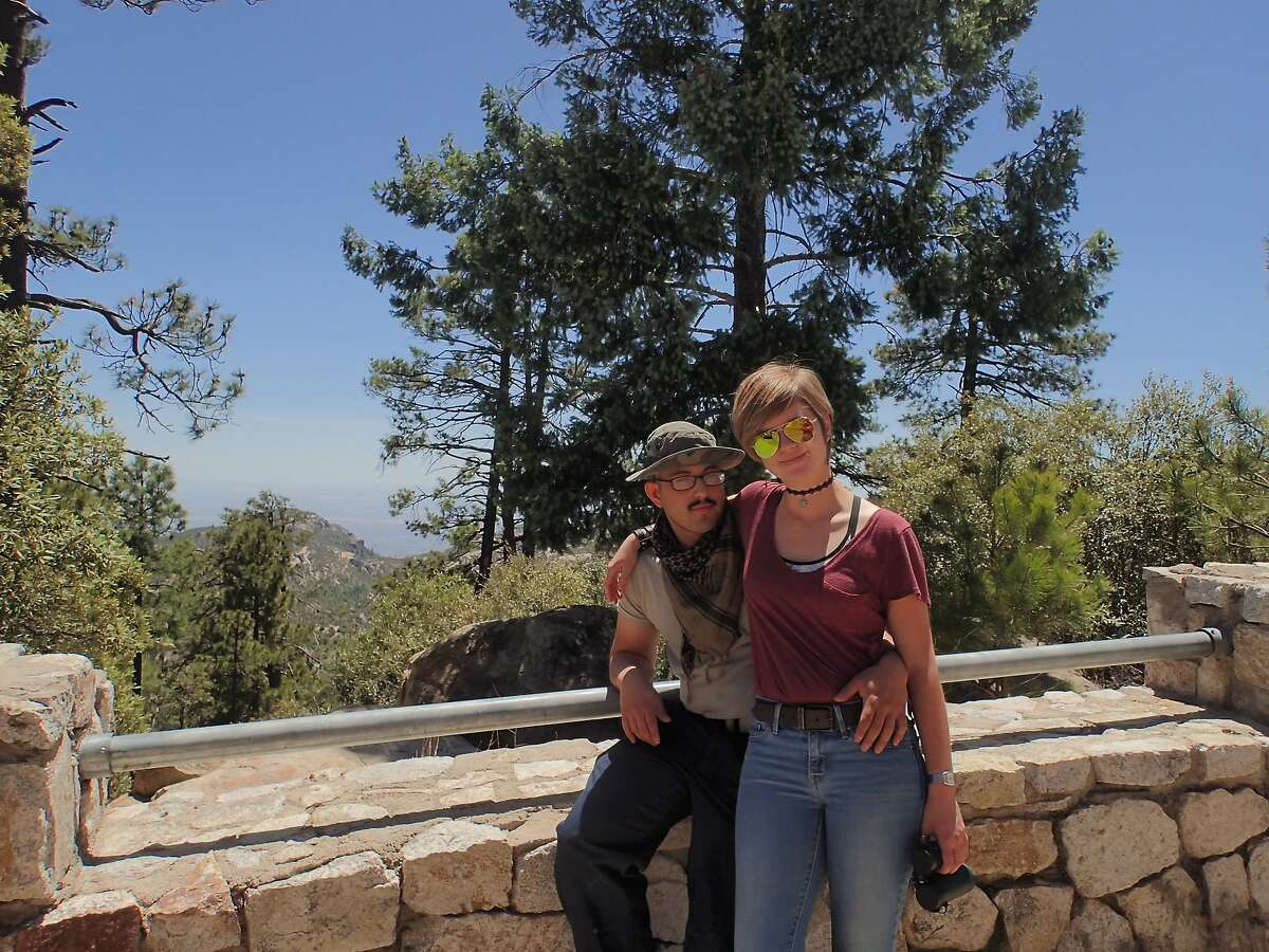 Deanna Rhoades and her boyfriend in her new hometown of Tucson, Ariz.