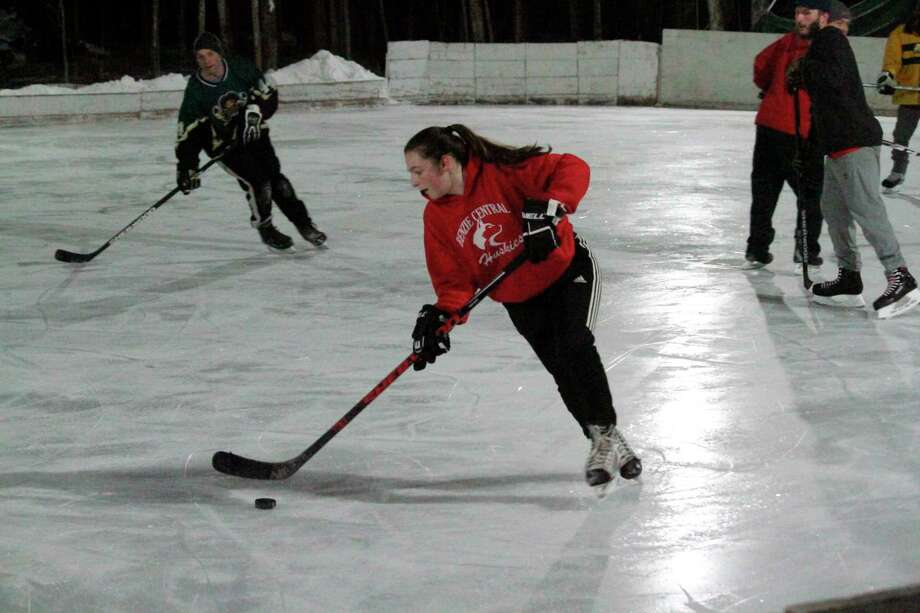 A free event on Feb. 27 at Benzonia Ice Rink will provide beginners with an introduction to sport of hockey. (Record Patriot file photo)