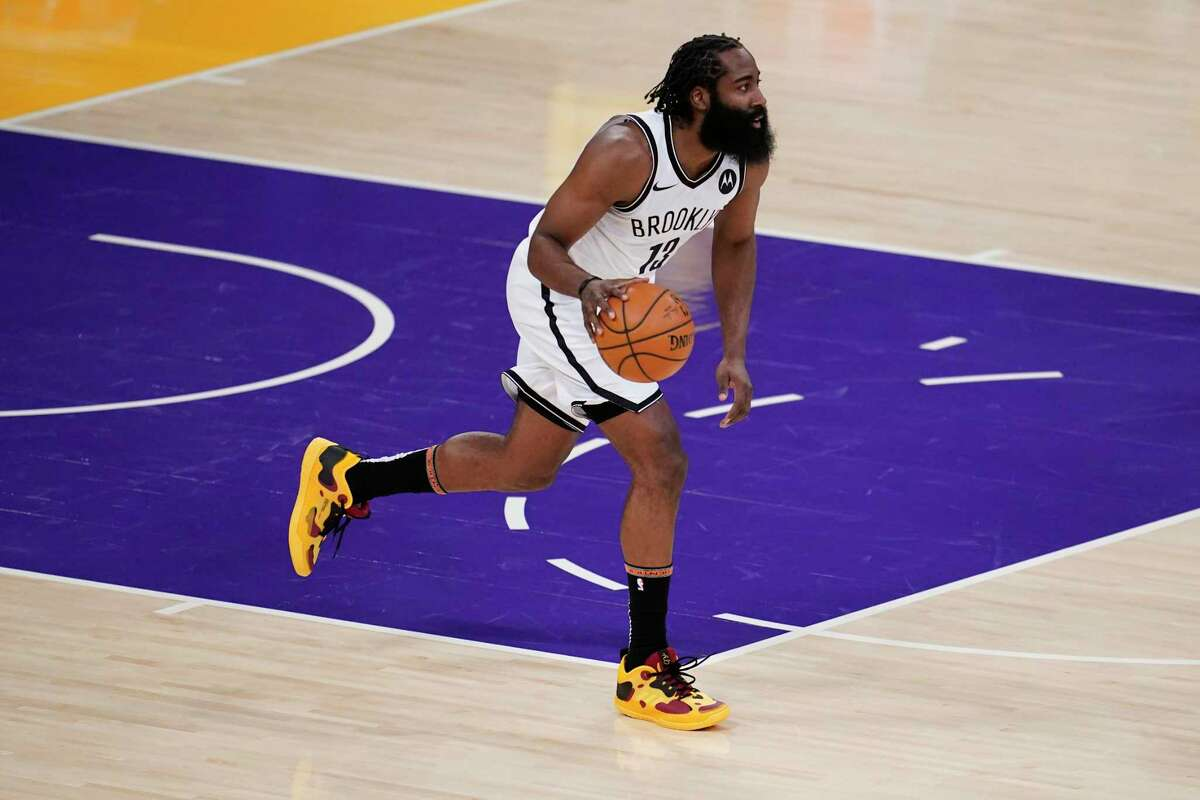 James Harden is averaging 24.2 points, 11.7 assists, 8.6 rebounds, 51.5 percent from the floor, 41.5 percent on 3s, 92.7 percent from the line for the Nets, who have the second-best record in the Eastern Conference.
