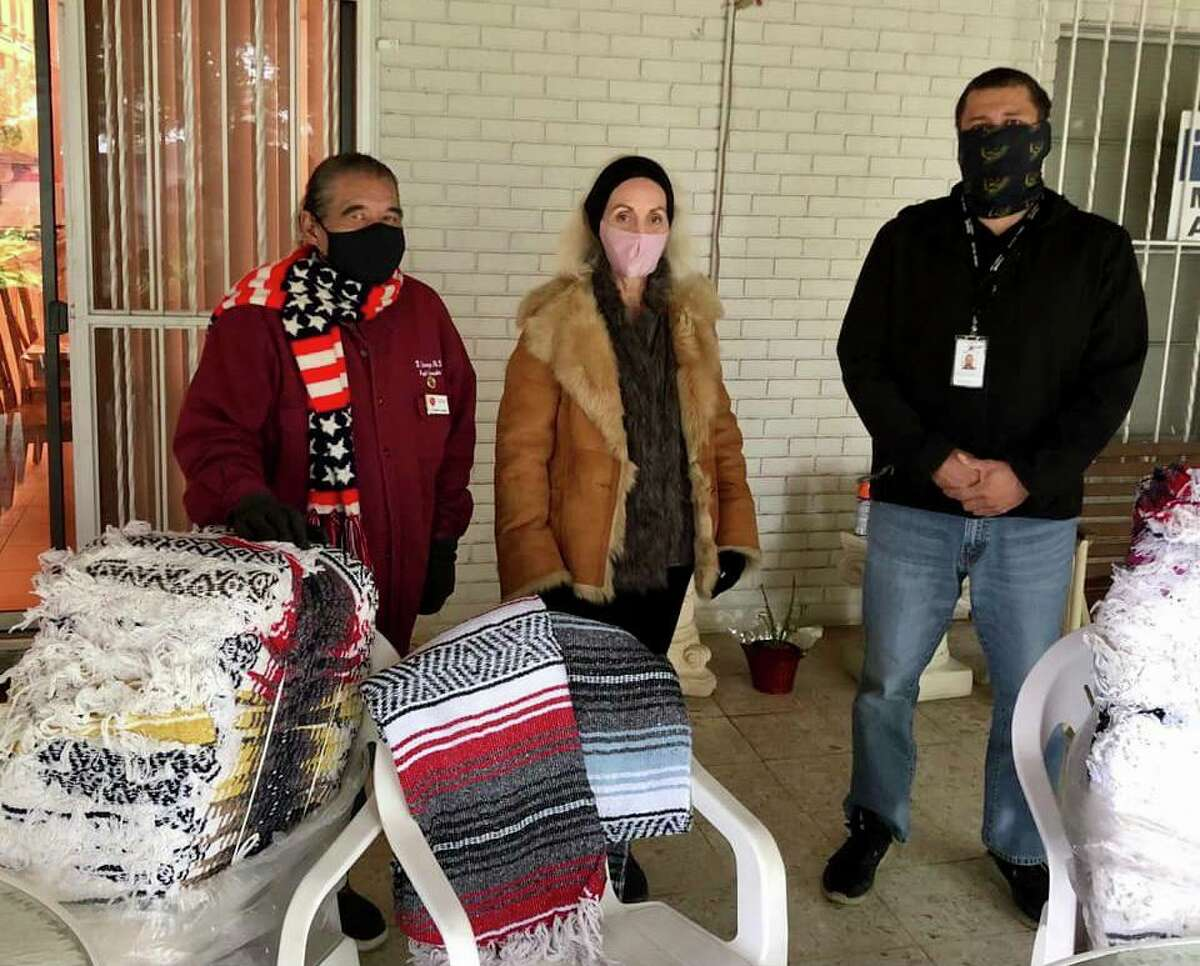 The organization LOVED donated blankets to the Laredo College Trading Station.