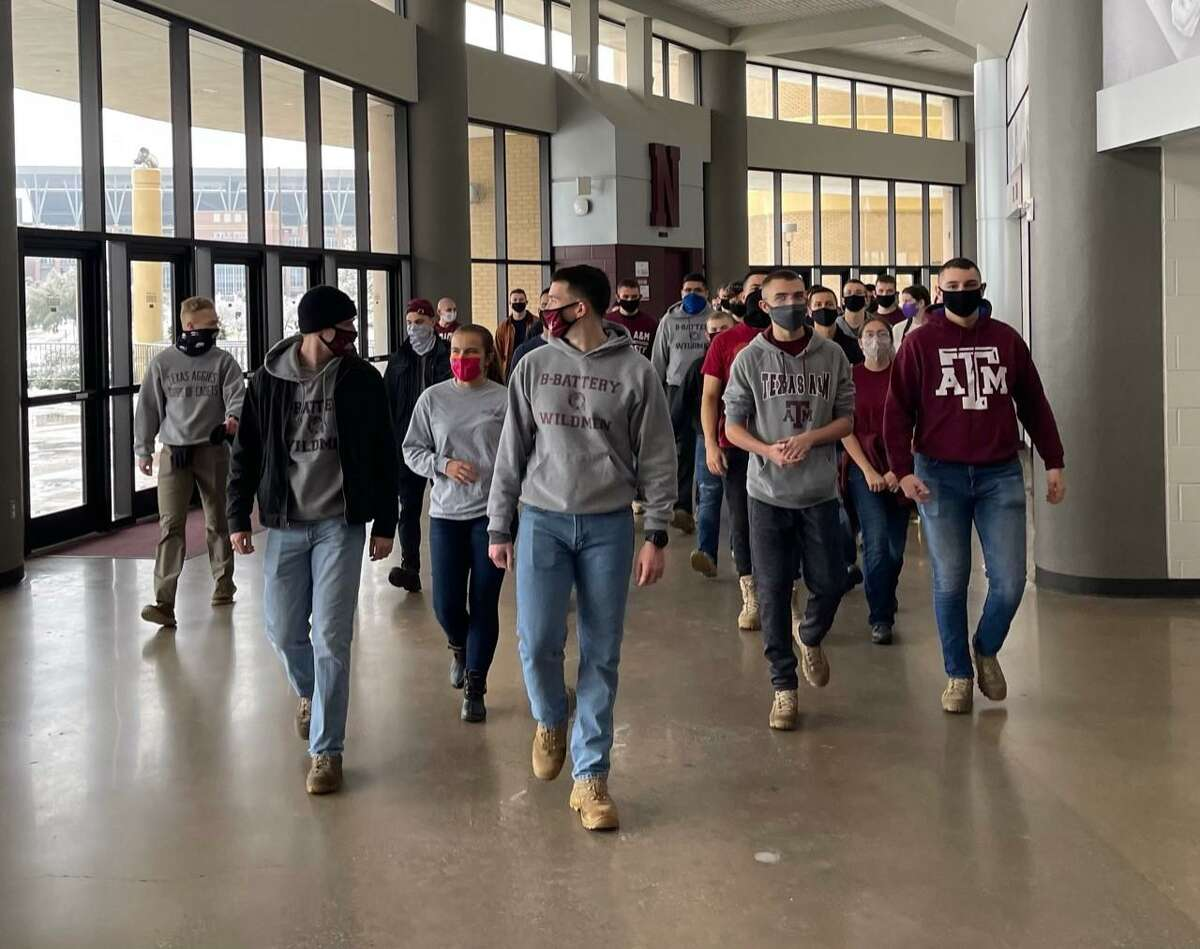 Plenty of volunteers showed up to help Saturday while also seeking their own warmth inside Reed Arena.
