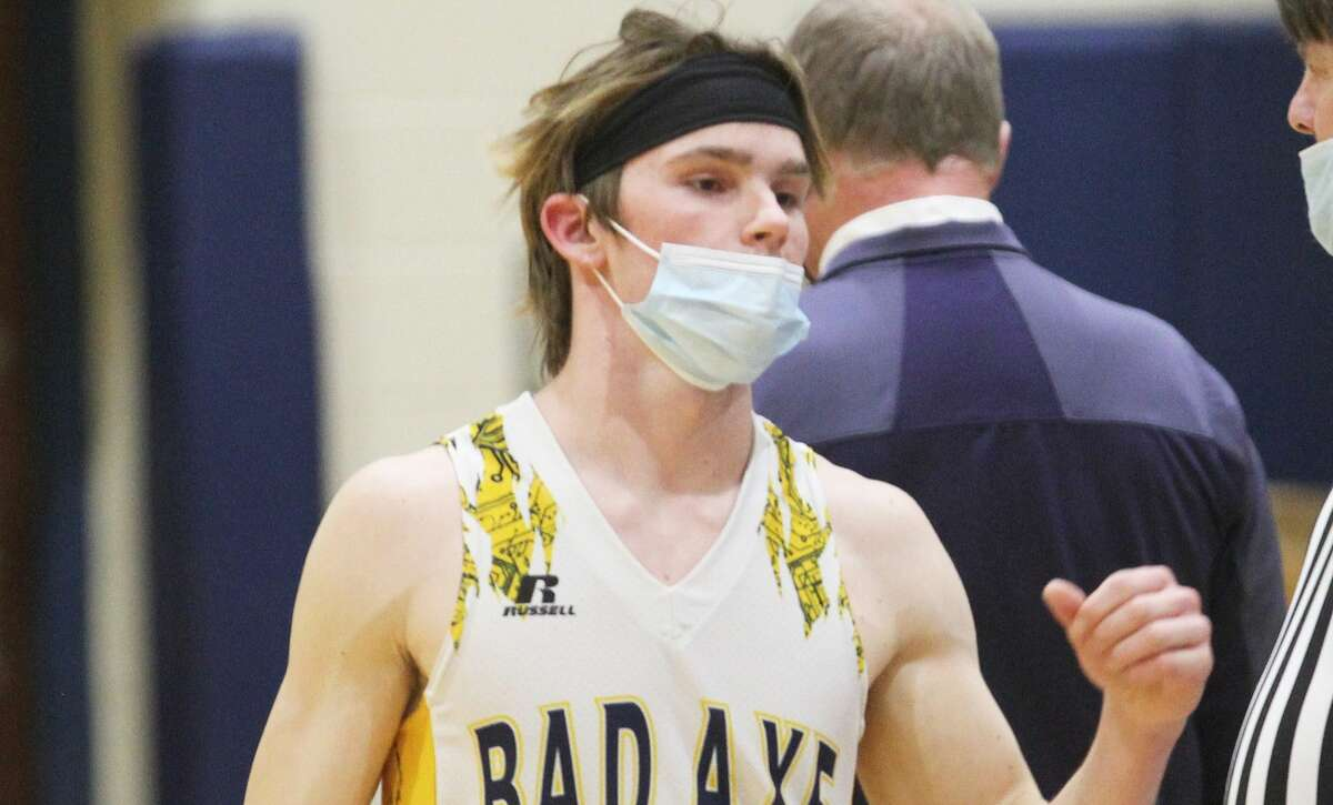 The Bad Axe boys basketball team snapped visiting Laker's five-game winning streak on Thursday night. The Hatchets won, 59-38.