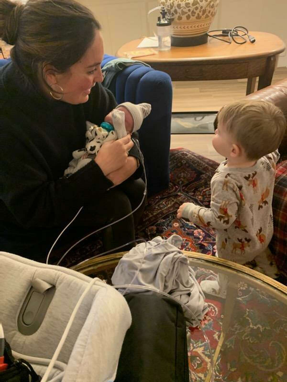Levi and Ashley Barnard brought Cash home Feb. 12 after the premature infant spent 70 days in the hospital. Their house lost power early Monday morning, setting off a frantic scramble to find a way to keep his oxygen machine powered.