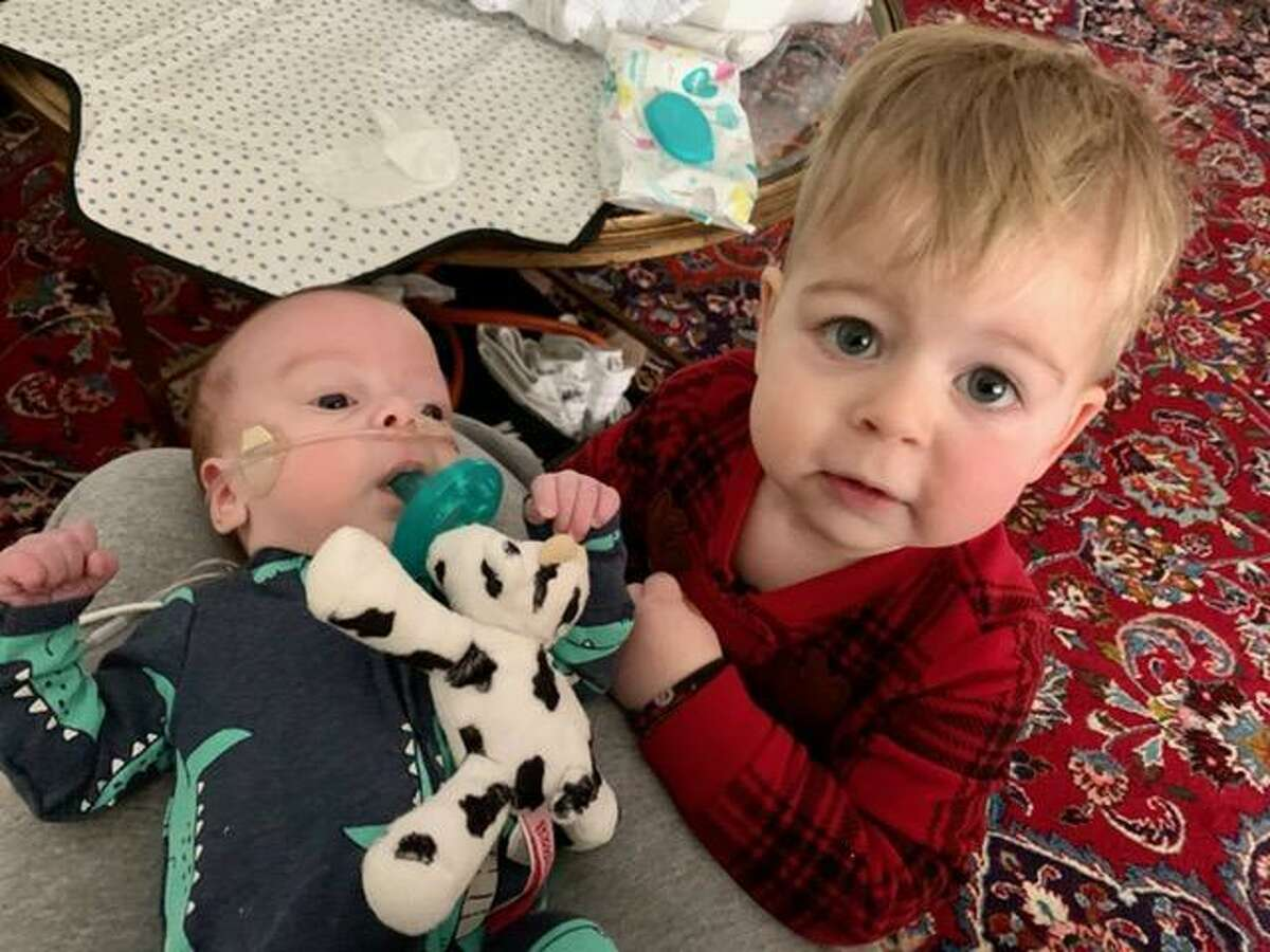 Wells and Cash Barnard. Their parents Ashley and Levi Barnard brought Cash home Friday, Feb. 12, after the premature infant spent 70 days in the hospital. Their house lost power early Monday morning, setting off a frantic scramble to find a way to keep his oxygen machine and other medical devices powered.