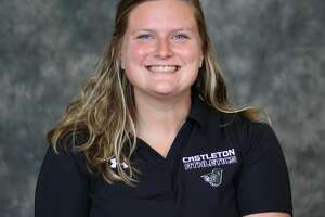 Lindsay Bynon, head volleyball coach at Castleton University in Vermont. (Castleton Athletics)