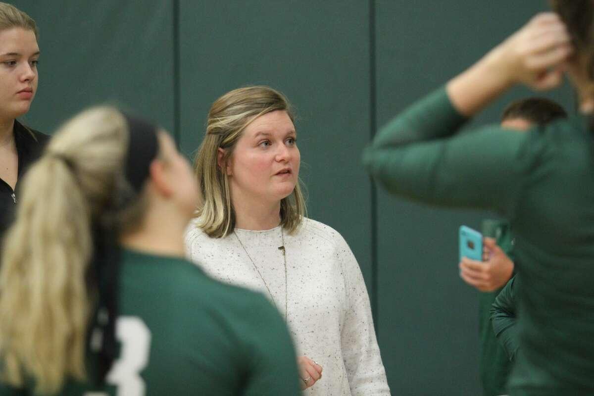 Lindsay Bynon, head volleyball coach at Castleton University in Vermont. (Castleton Athletics)