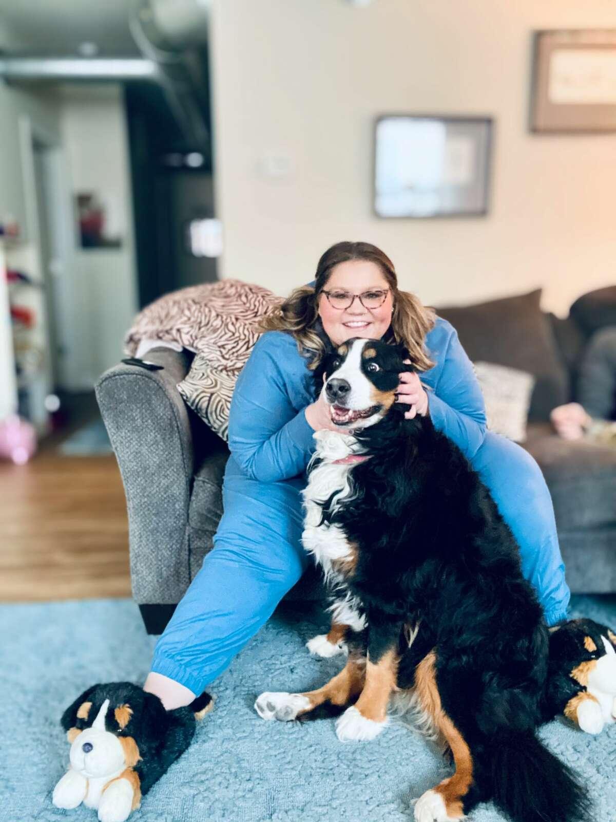 2. Dog mom of an 8-year-old Bernese Mountain Dog, Luna - she's a HAM!