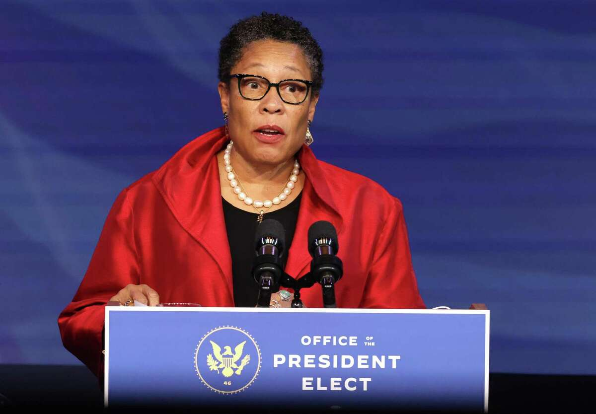 Rep. Marcia Fudge (D-OH) delivers remarks after being introduced as U.S. President-elect Joe Biden's nominee to head the Department of Housing and Urban Affairs at the Queen Theater on December 11, 2020, in Wilmington, Delaware. (Chip Somodevilla/Getty Images/TNS)