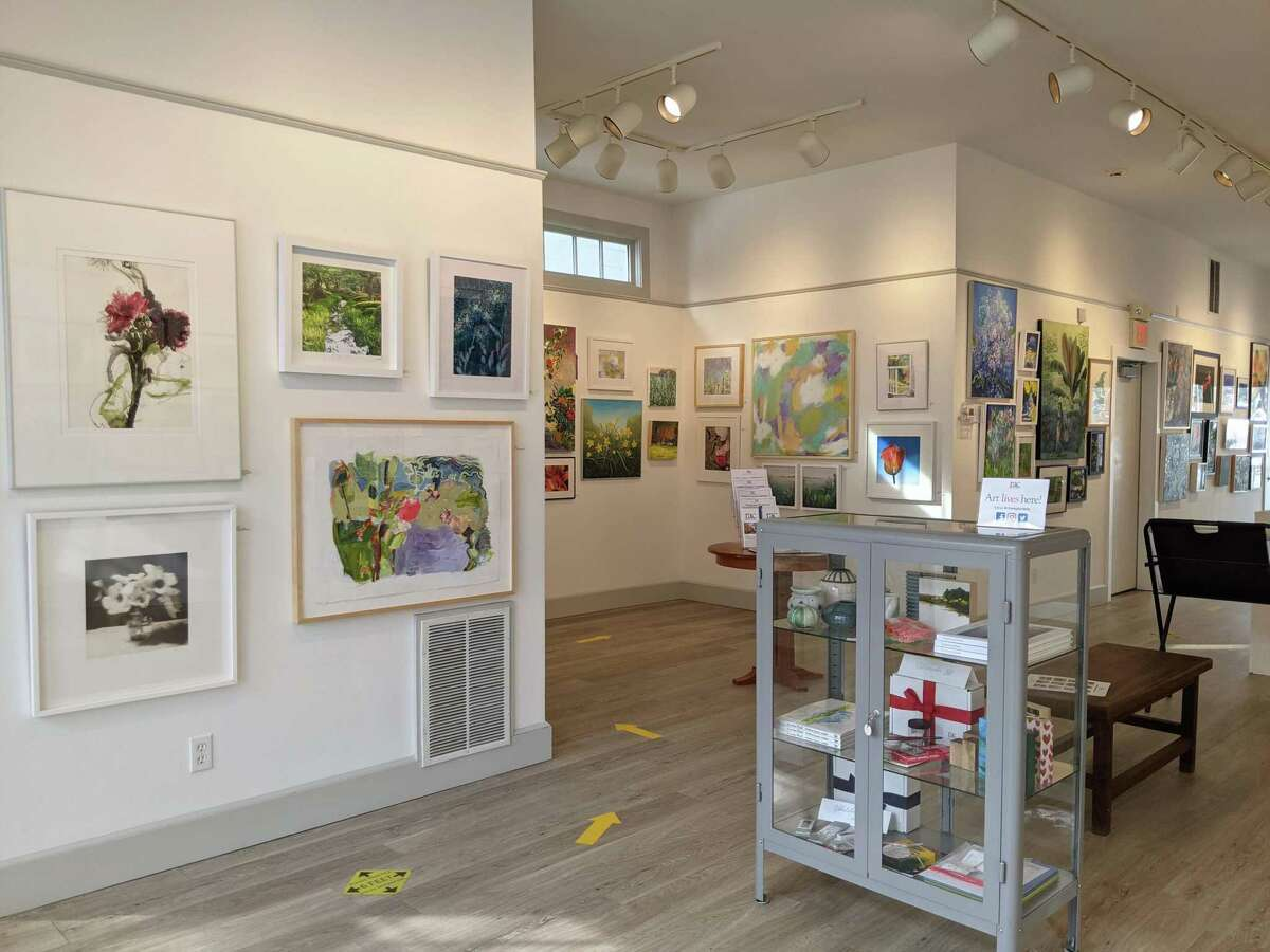 Pictured is the art gallery at the Rowayton Arts Center in Rowayton, Conn., with the