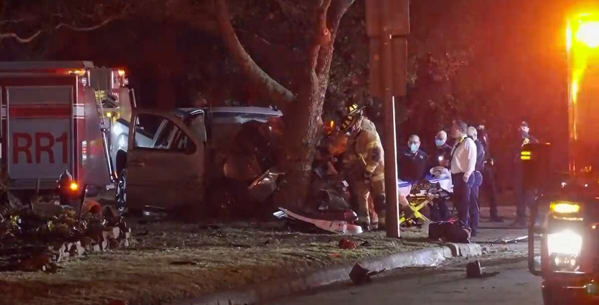 One person was killed Feb. 21, 2021, after crashing into a tree at Wilcrest Drive and Tosca Lane.