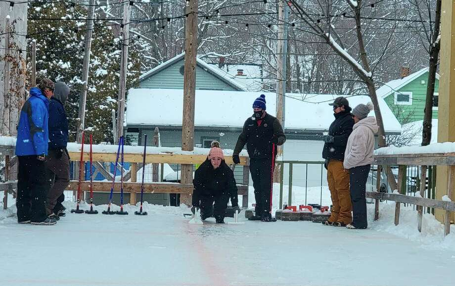 Stormcloud Brewing Co. hosts curling classes on weekends in January and February. (Colin Merry/Record Patriot)