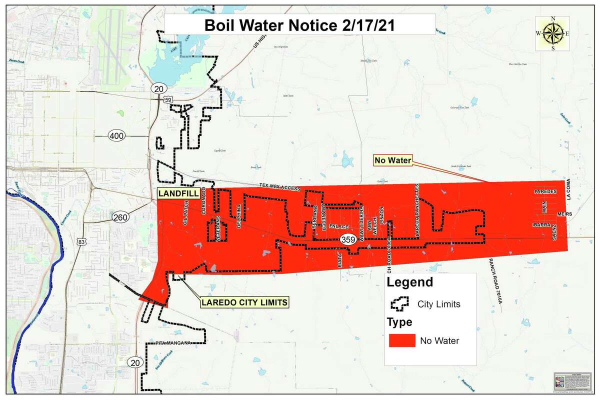 The City of Laredo on Sunday lifted the boil water notice that City Council had enacted on Wednesday for the Highway 359 area.