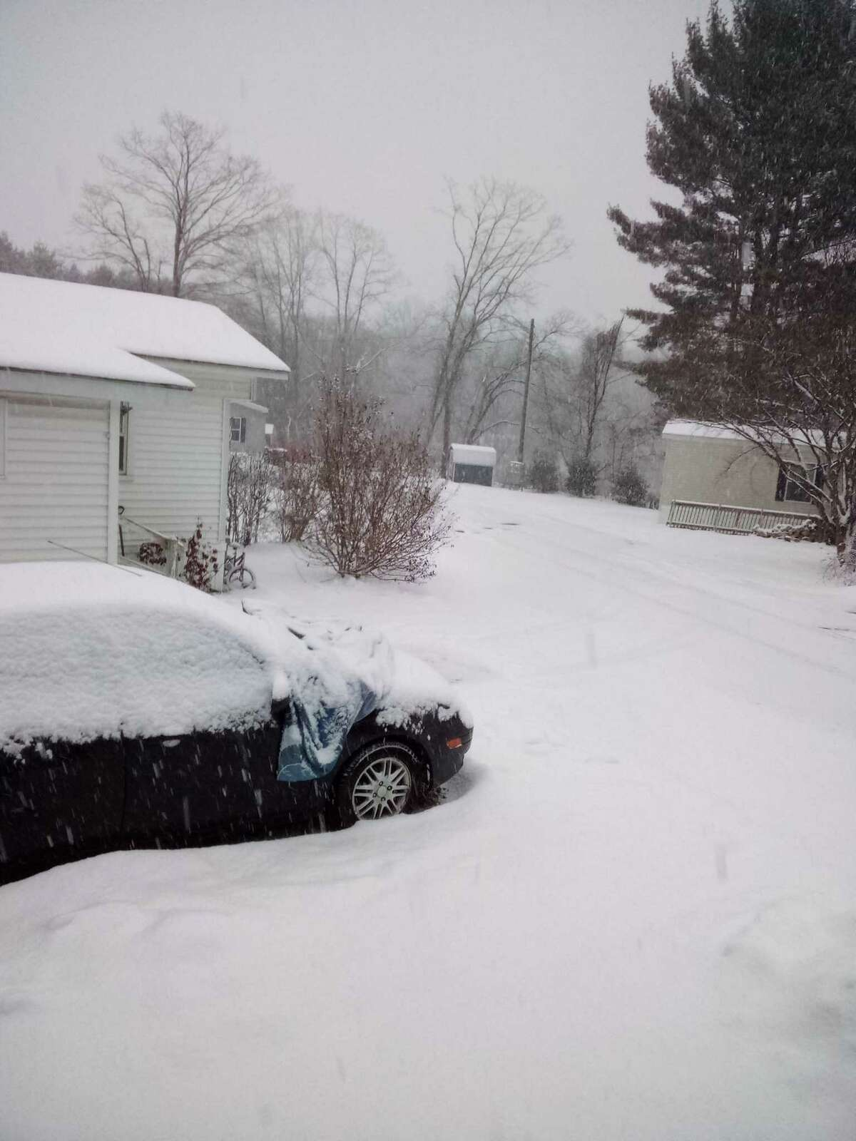Snow in New Milford from a prior snowstorm.