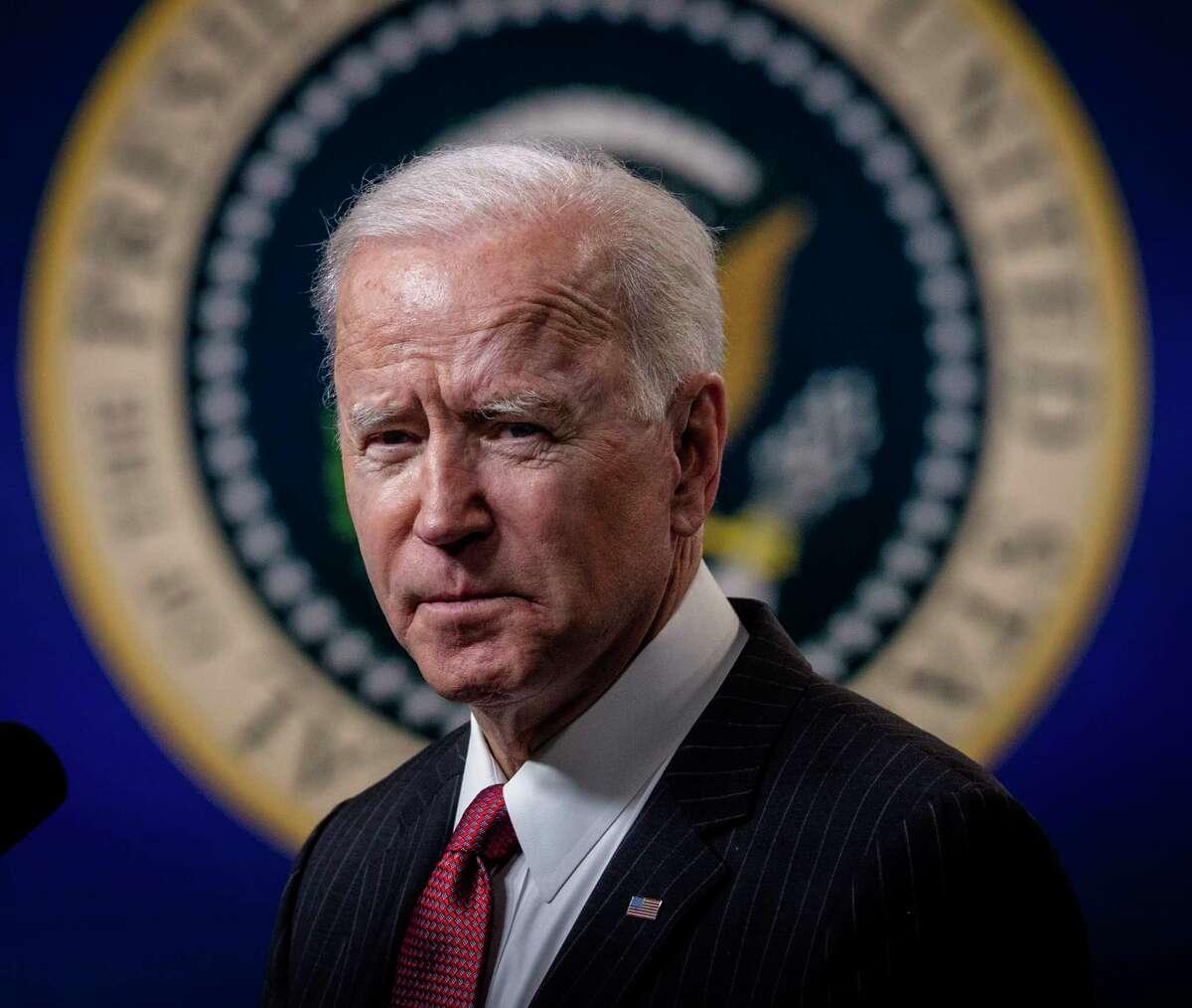 President Joe Biden is shown at the White House in Washington on Feb. 10, 2021.