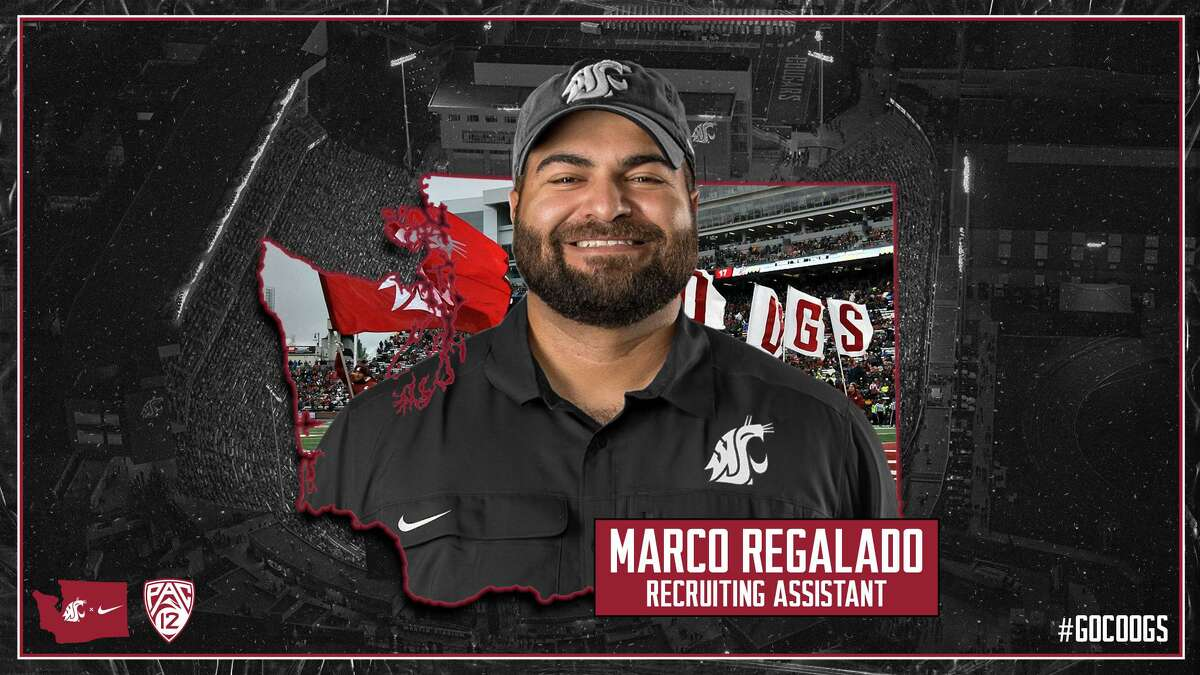 Marco Regalado, a Zapata native, is now a recruiting coordinator assistant at Washington State University.