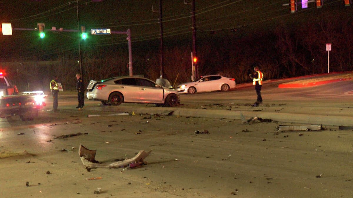 Four people were hospitalized after a possible drunk driver collided with an ambulance Monday morning, San Antonio police said.
