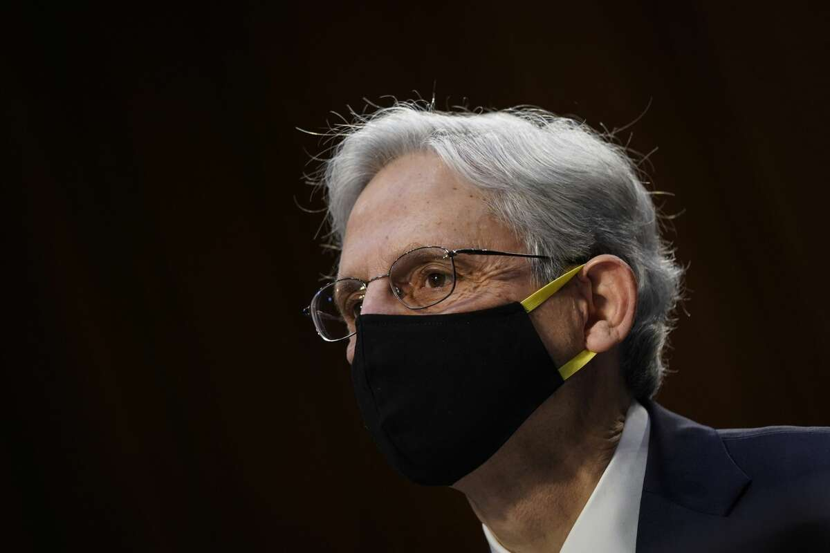 Judge Merrick Garland, nominee to be Attorney General, testifies at his confirmation hearing before the Senate Judicary Committee, Monday, Feb. 22, 2021 on Capitol Hill in Washington. (Drew Angerer/Pool via AP)