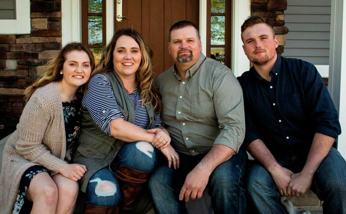 Amy Smithers, art and technology teacher at Laker Schools, and her husband Darrin Smithers knew they wanted to rase their family in the community they both grew up in. Their daughter Alexa is now a sophomore at Lakers and their son Blake is a Laker senior this year. (Courtesy Photo)