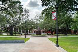 Lamar University quad on the campus in Beaumont, TX. Photo made on July 16, 2020. Fran Ruchalski/The Enterprise