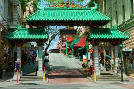 Dragon Gate, the south-facing structure at Grant Avenue and Bush Street, was erected in 1969 as a gift from Taiwan.