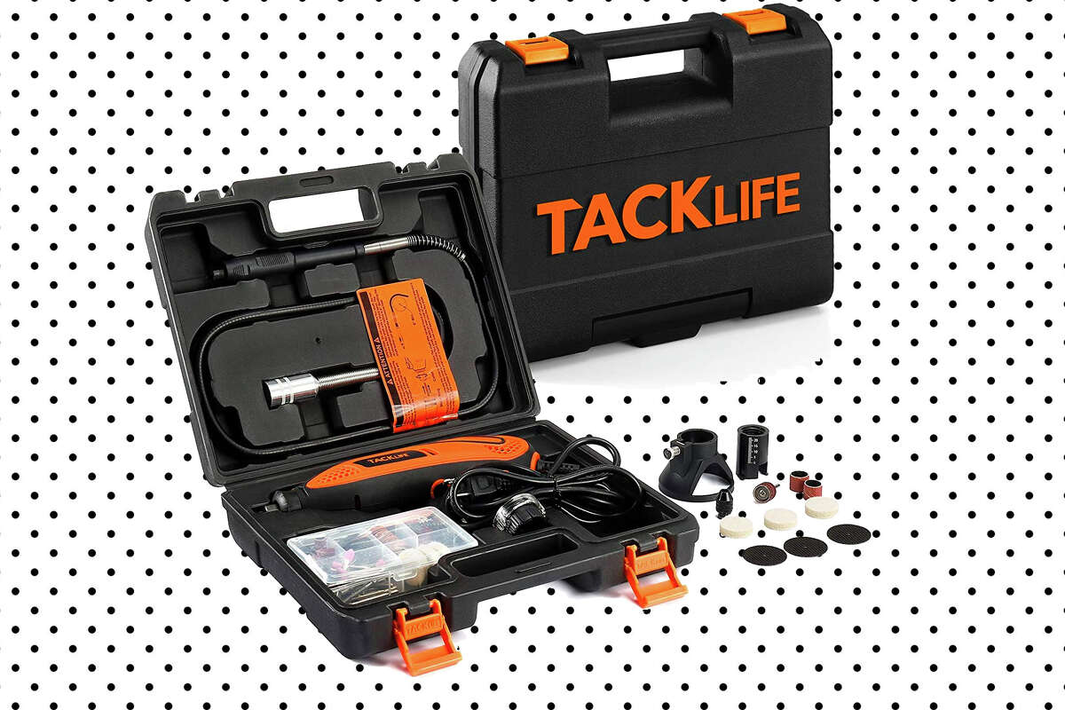 TACKLIFE Rotary Tool Kit on Amazon at $19.99 (with the promo code MGUEO56O).