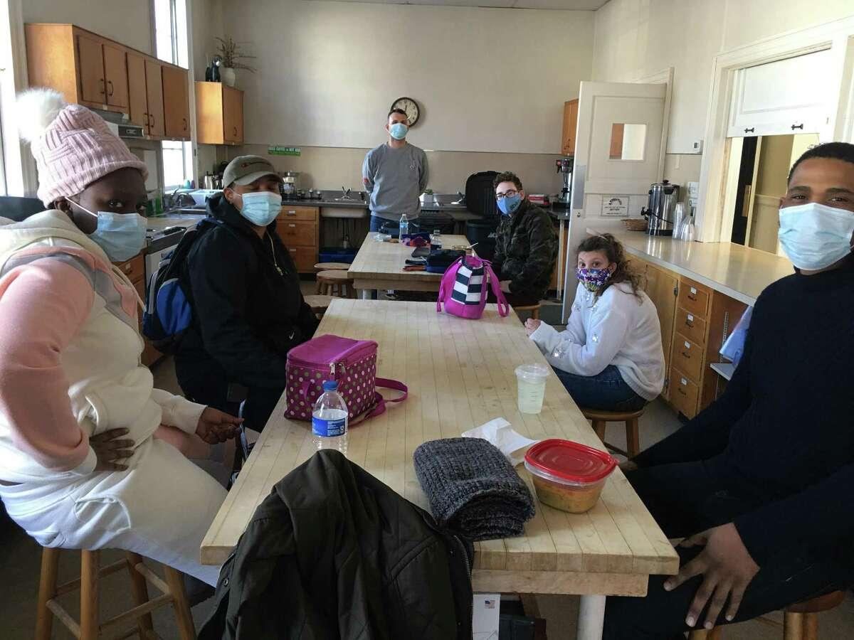 Participants in Abilis' LEAP program in Norwalk, Conn. which began in December 2020